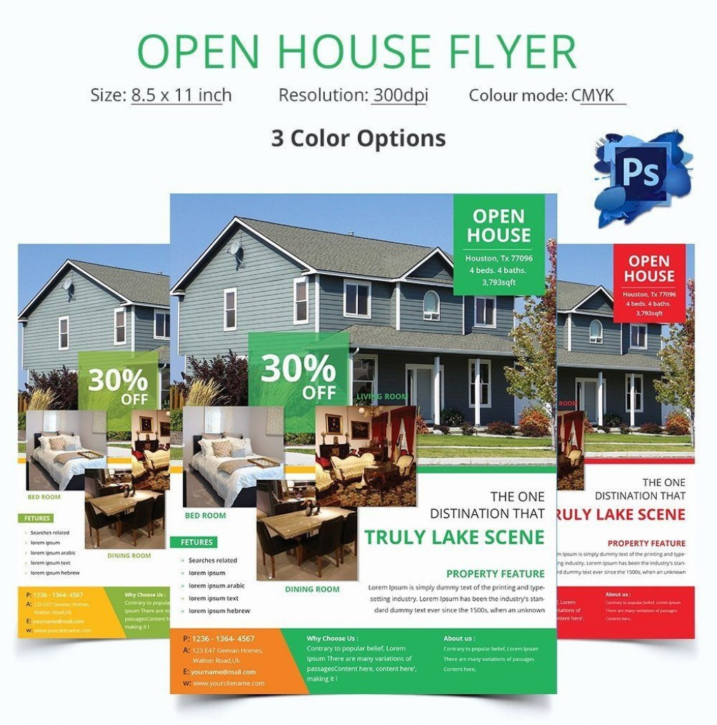 006 Formidable Open House Flyer Template Free Concept  Microsoft Word School ChristmaLarge