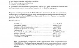 006 Formidable Request For Proposal Rfp Template Construction Sample