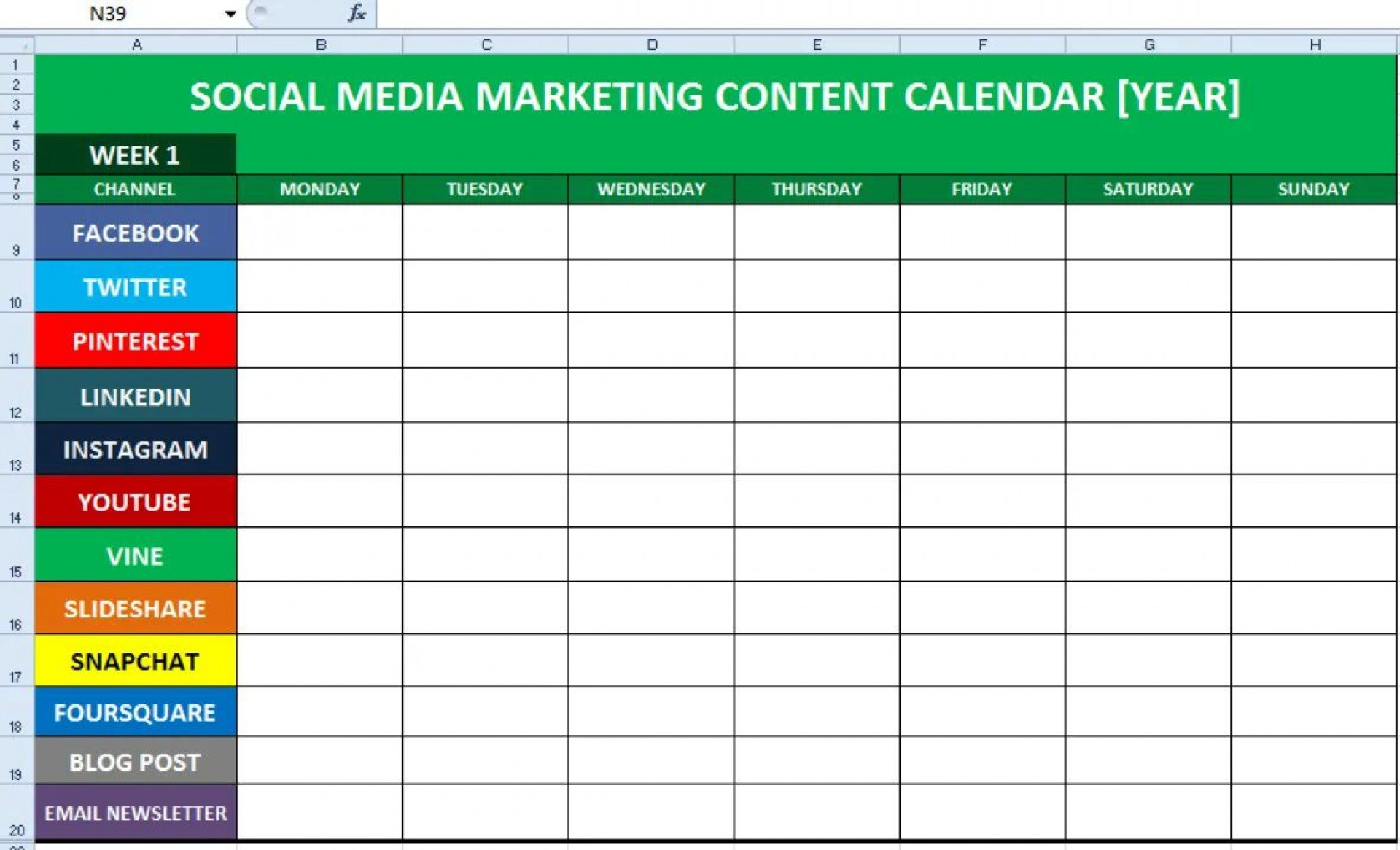 006 Formidable Social Media Calendar Template Photo  2020 Editorial Excel Free 2019 Download1920