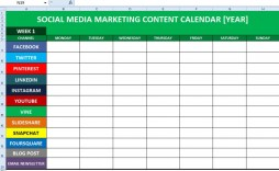 006 Formidable Social Media Calendar Template Photo  2020 Editorial Excel Free 2019 Download