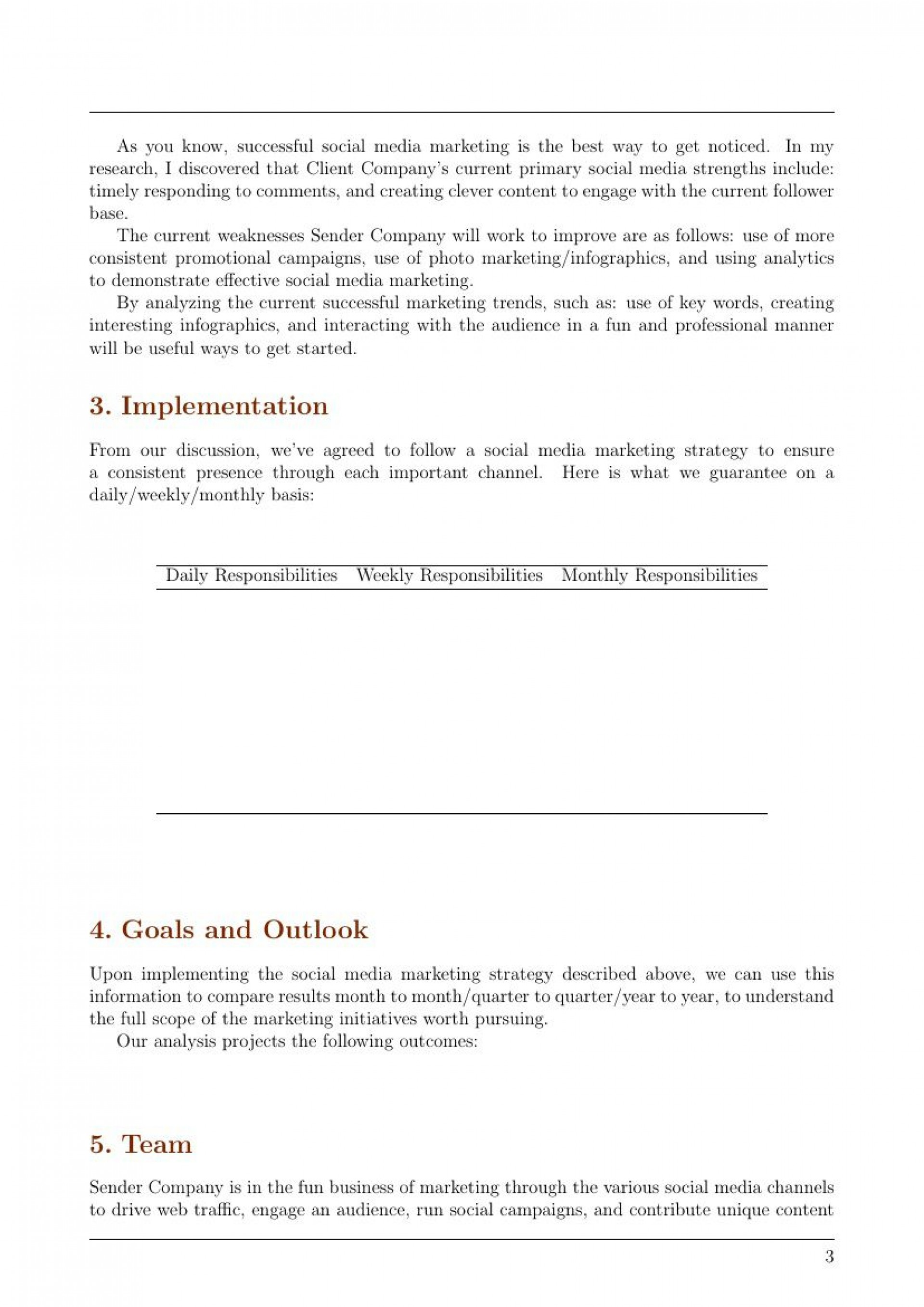 006 Formidable Social Media Marketing Proposal Template Highest Clarity  Plan Free Download Pdf Word1920