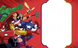 006 Formidable Superhero Birthday Party Invitation Template Free Highest Quality  Invite