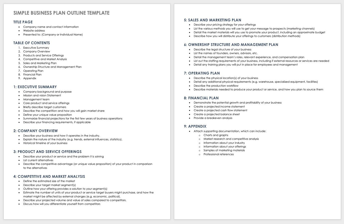 006 Frightening Basic Busines Plan Template Concept  Simple Word Download Easy Free AustraliaFull
