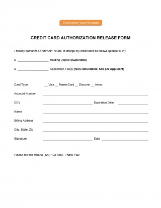 006 Frightening Credit Card Authorization Template Highest Clarity  Form For Travel Agency Free Download Google Doc320