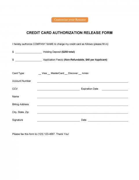006 Frightening Credit Card Authorization Template Highest Clarity  Form For Travel Agency Free Download Google Doc480