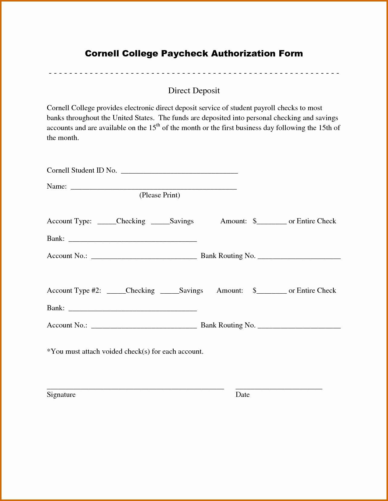006 Frightening Direct Deposit Cancellation Form Template Idea  Authorization Canada Word PayrollFull