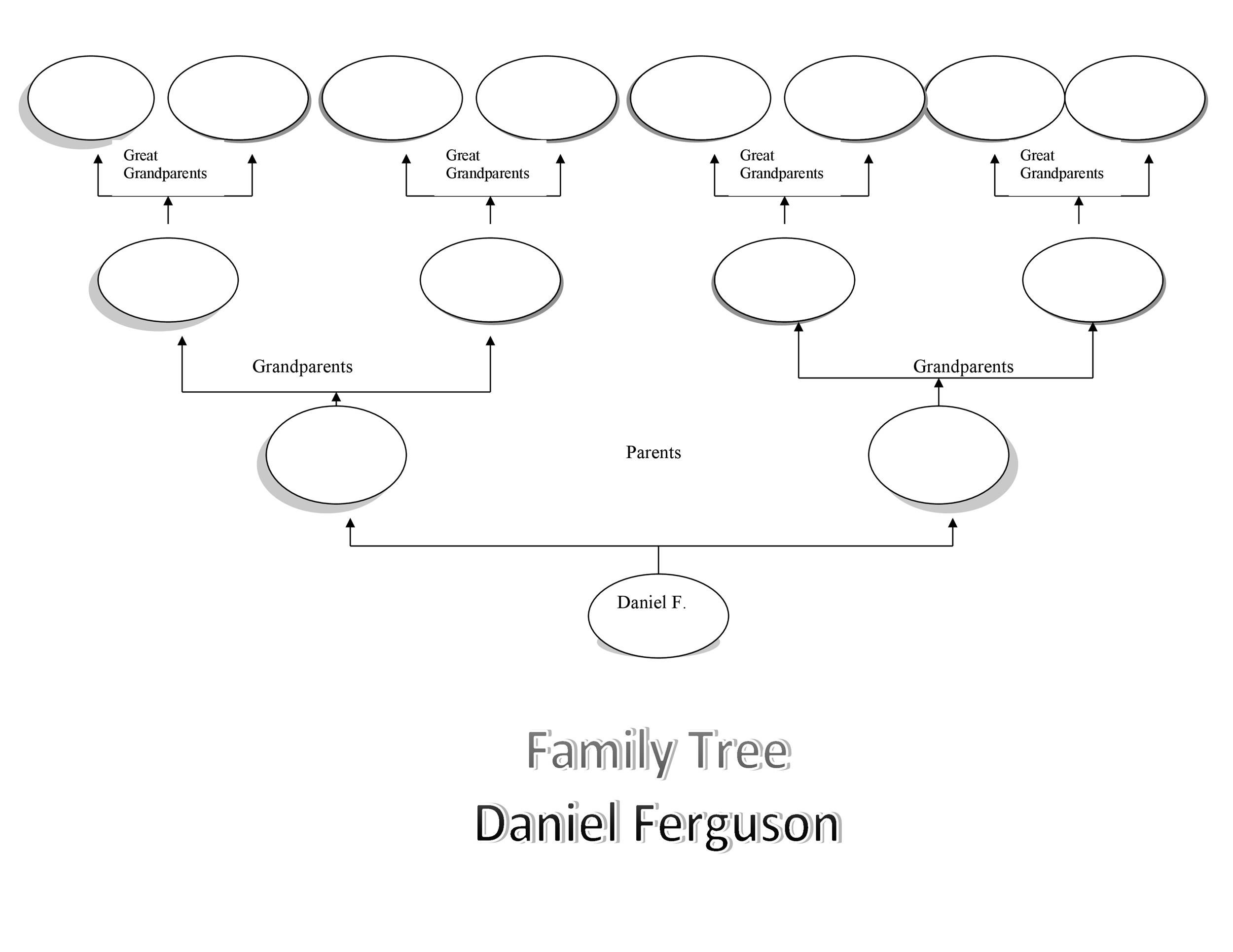 006 Frightening Free Editable Family Tree Template Design  Templates Pdf Powerpoint With PhotoFull