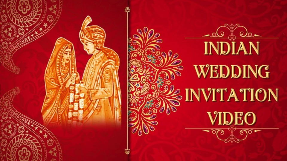 006 Frightening Free Online Indian Wedding Invitation Card Template Photo 960