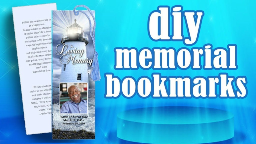 006 Frightening In Loving Memory Bookmark Template Free Download High Def Large