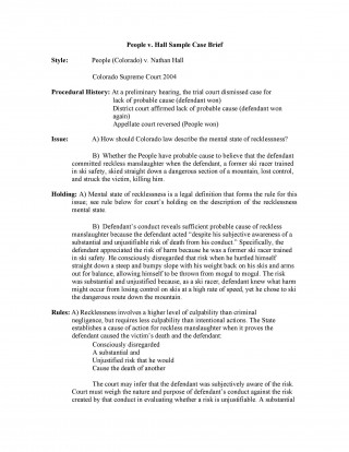 006 Frightening Legal Brief Template Word Sample  Case Microsoft320
