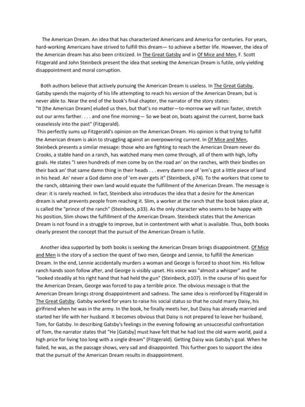 006 Frightening Of Mice And Men Essay Sample  Prompt TopicLarge
