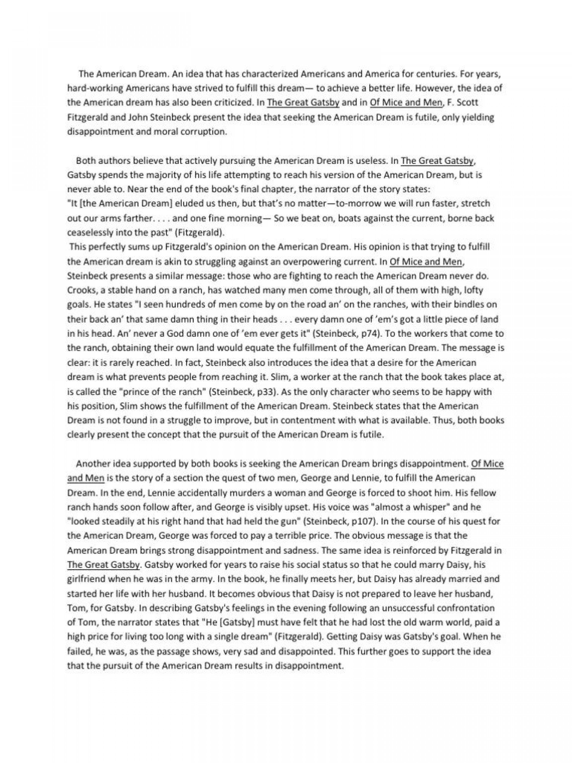 006 Frightening Of Mice And Men Essay Sample  Prompt Topic1920