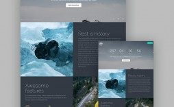 006 Frightening Responsive Landing Page Template High Definition  Templates Html5 Free Download Wordpres Html
