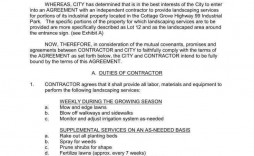 006 Frightening Snow Removal Contract Word Doc High Resolution