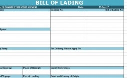 006 Imposing Bill Of Lading Template Excel Example  Simple House Format In
