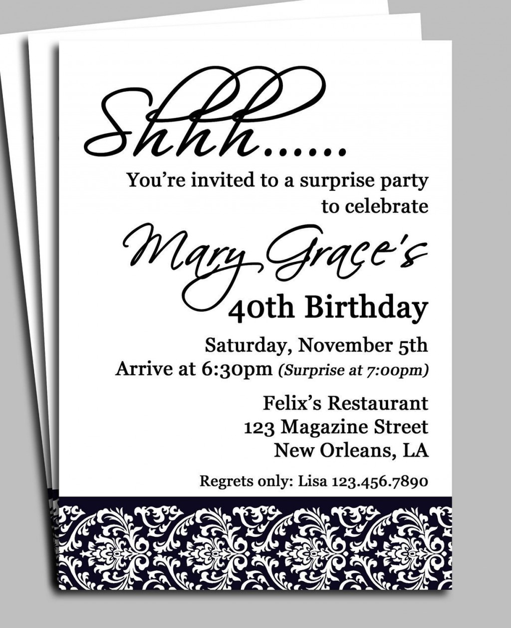006 Imposing Birthday Invitation Wording Example Sample  Examples Party Invite Brunch IdeaLarge