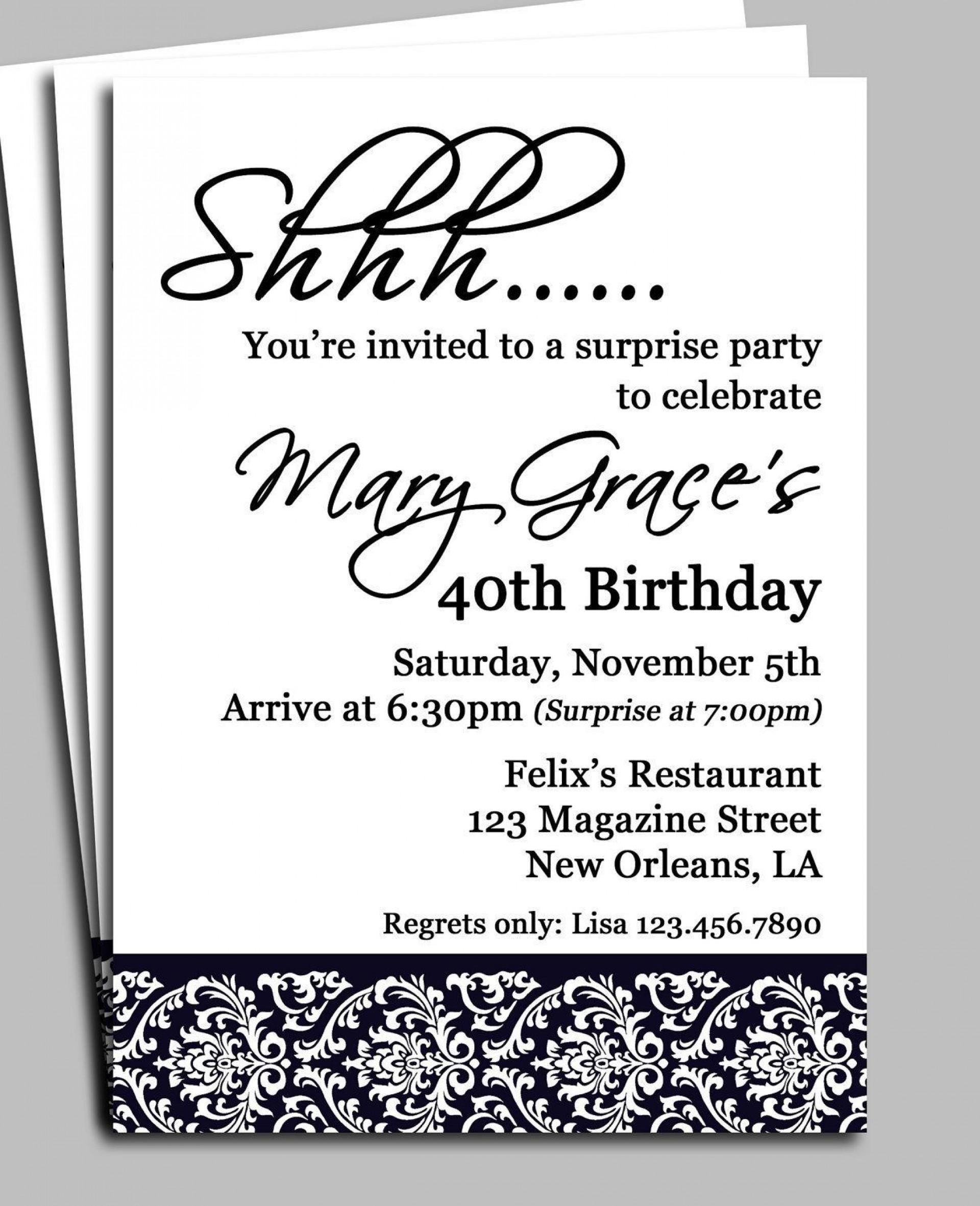 006 Imposing Birthday Invitation Wording Example Sample  Examples Party Invite Brunch Idea1920