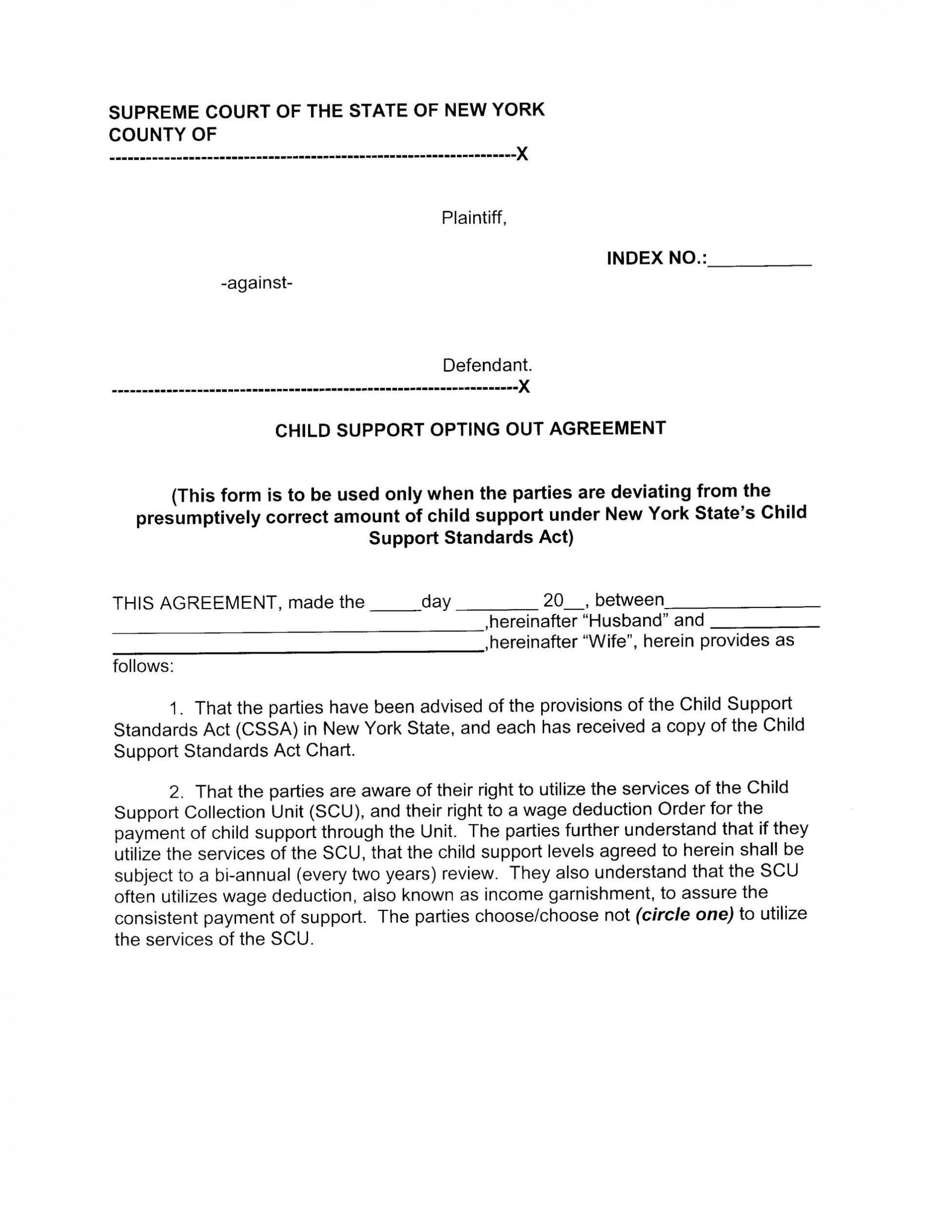 006 Imposing Child Support Agreement Template Photo  Australia Bc Alberta1920