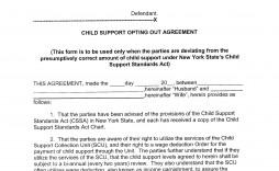 006 Imposing Child Support Agreement Template Photo  Australia Bc Alberta