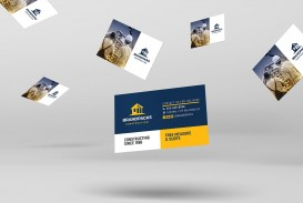 006 Imposing Construction Busines Card Template High Resolution  Company Visiting Format Word For Material