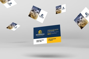 006 Imposing Construction Busines Card Template High Resolution  Company Visiting Format Word For Material360