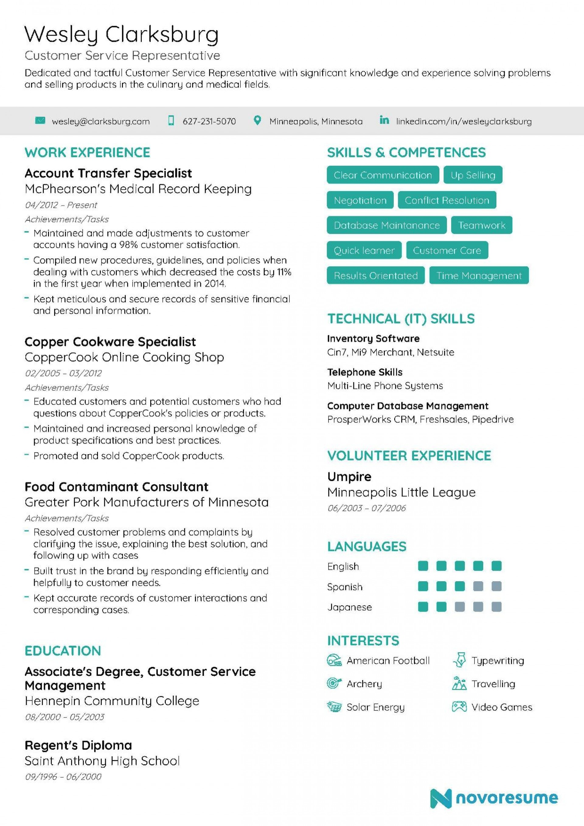 006 Imposing Customer Service Resume Template Image  Templates 2018 Word Cv1920
