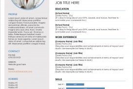 006 Imposing Download Resume Template Word 2007 Sample