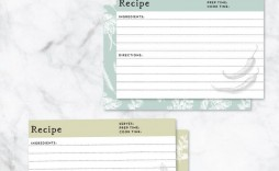 006 Imposing Editable Recipe Card Template Concept  Free For Microsoft Word 4x6 Page