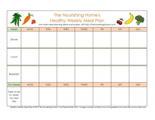 006 Imposing Excel Weekly Meal Planner Template Highest Quality  With Grocery List Downloadable320