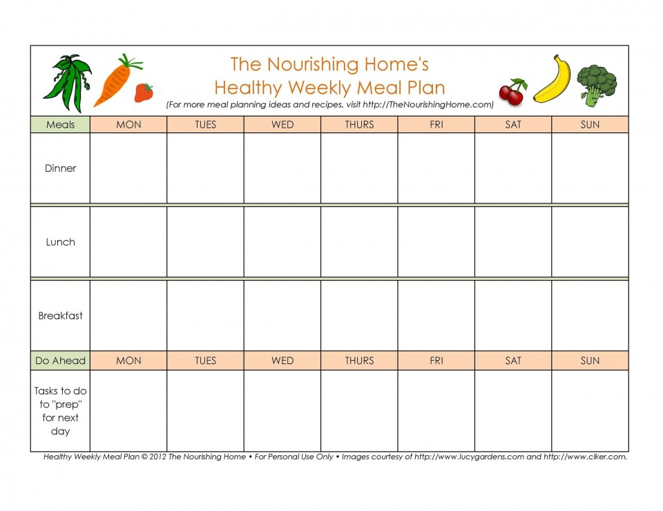 006 Imposing Excel Weekly Meal Planner Template Highest Quality  With Grocery List Downloadable960