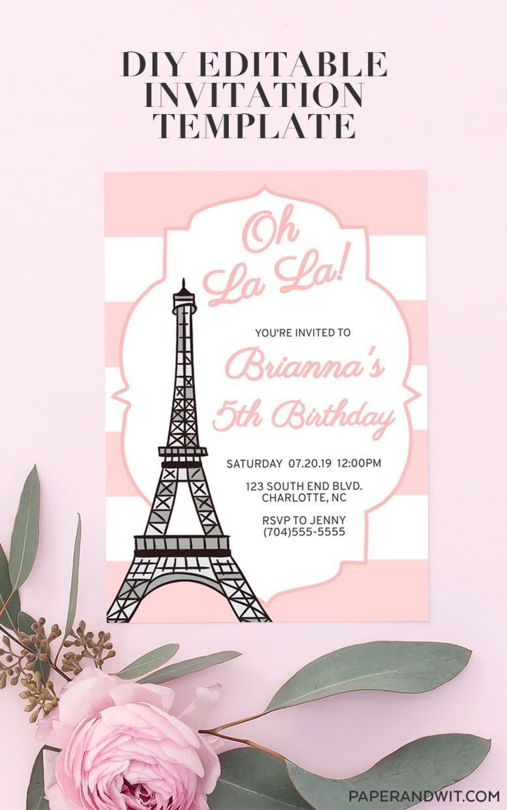 006 Imposing Free Pari Birthday Party Invitation Template Example  Templates1920