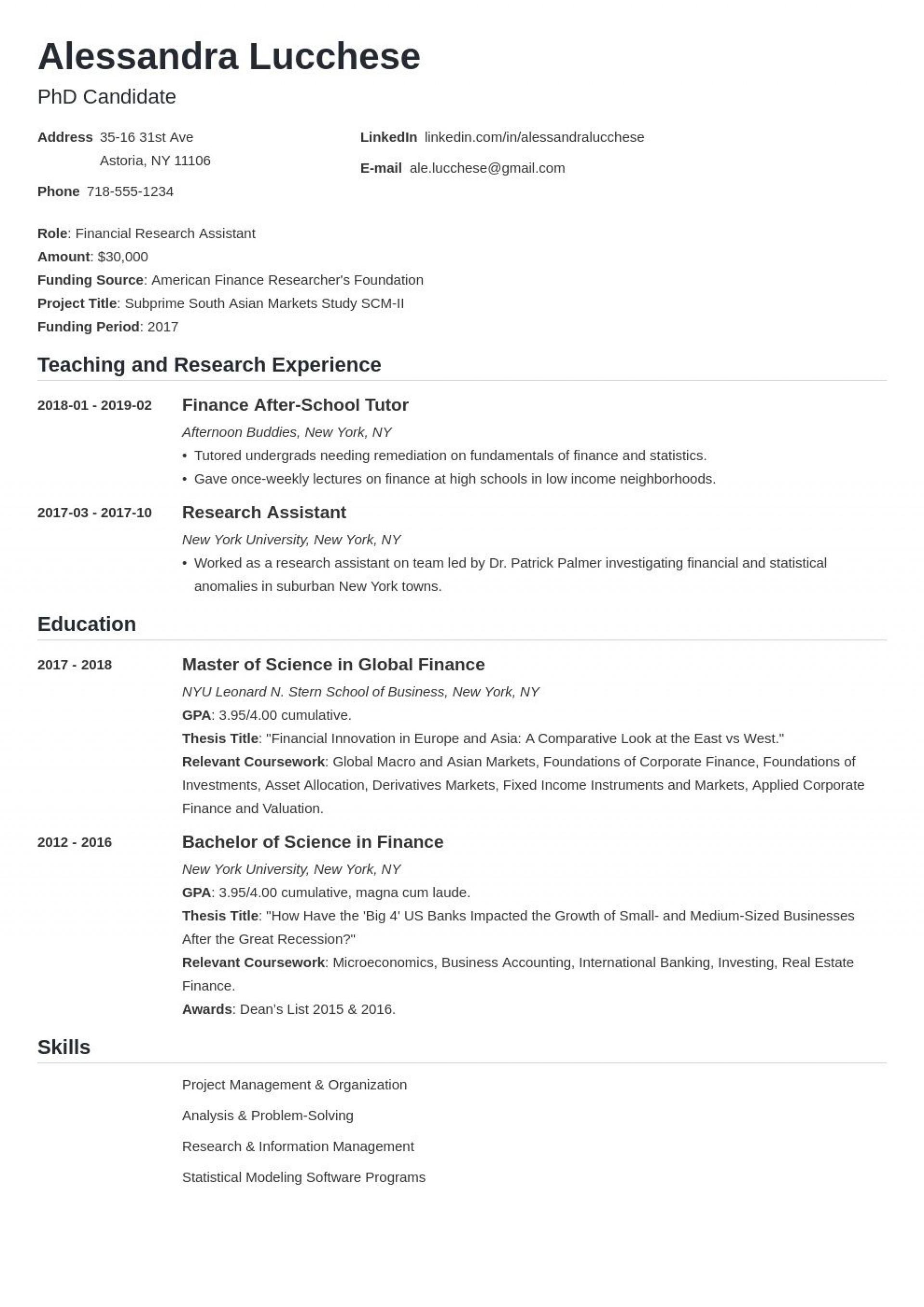 006 Imposing Graduate School Resume Template Idea  Word Free1920