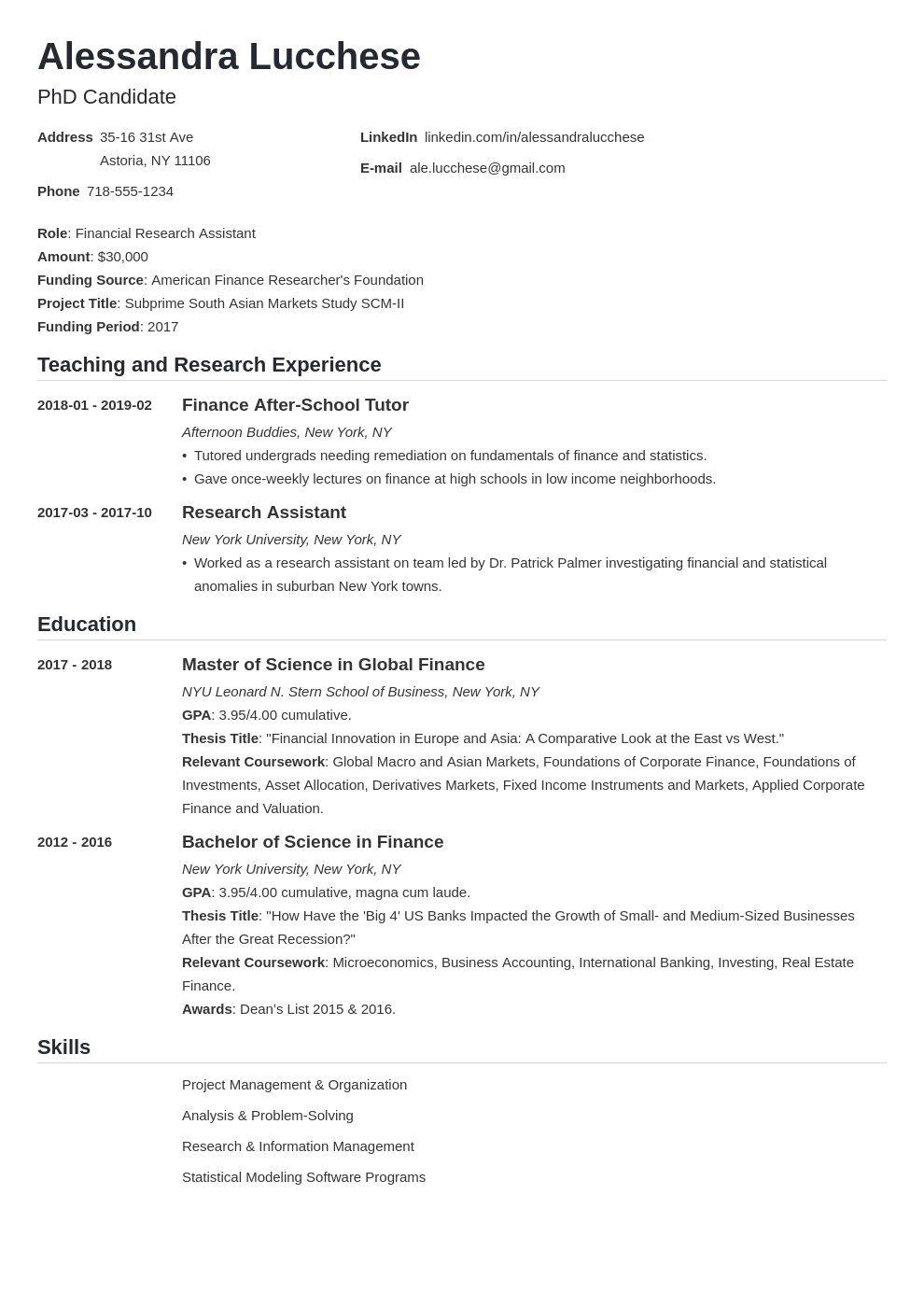 006 Imposing Graduate School Resume Template Idea  Word FreeFull