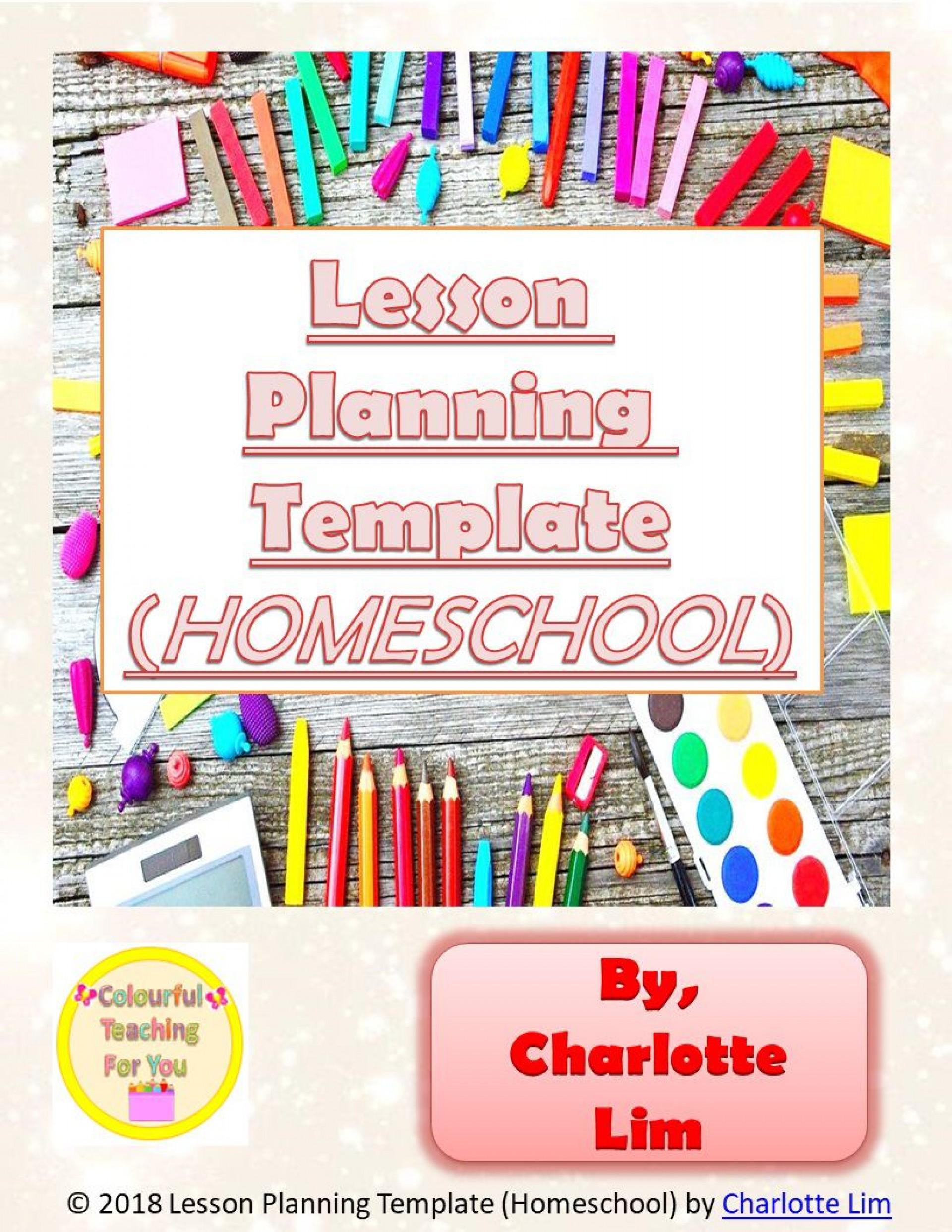 006 Imposing Homeschool Lesson Plan Template Sample  Teacher Planner Free1920