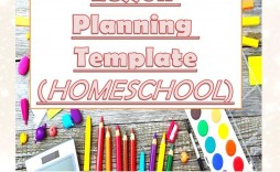 006 Imposing Homeschool Lesson Plan Template Sample  Teacher Planner Free