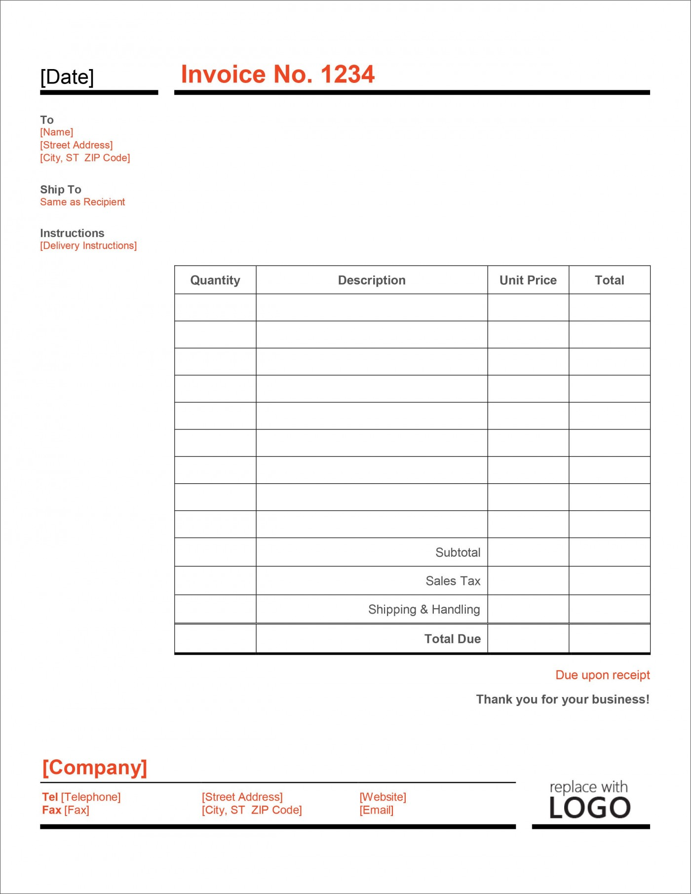 006 Imposing Microsoft Excel Invoice Template Free High Definition  Service Download1400