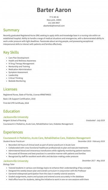 006 Imposing New Rn Resume Template High Def 360
