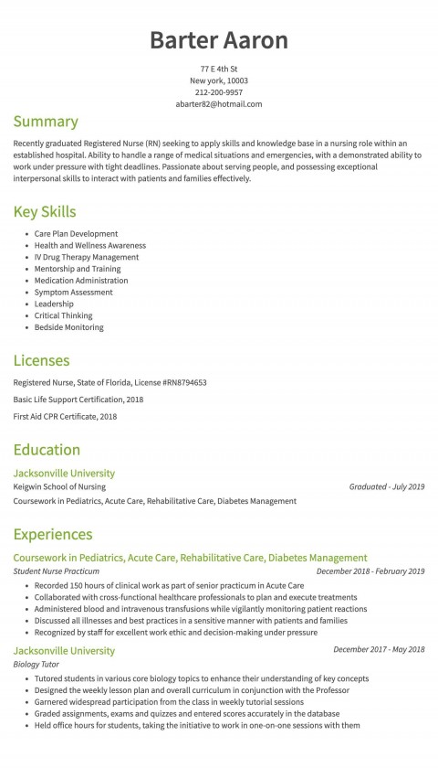 006 Imposing New Rn Resume Template High Def 480