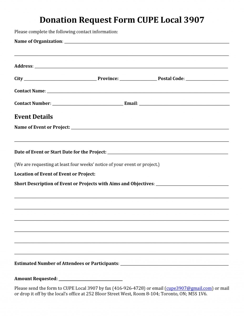 006 Imposing Printable Donation Form Template Highest Quality  Blank ReceiptLarge