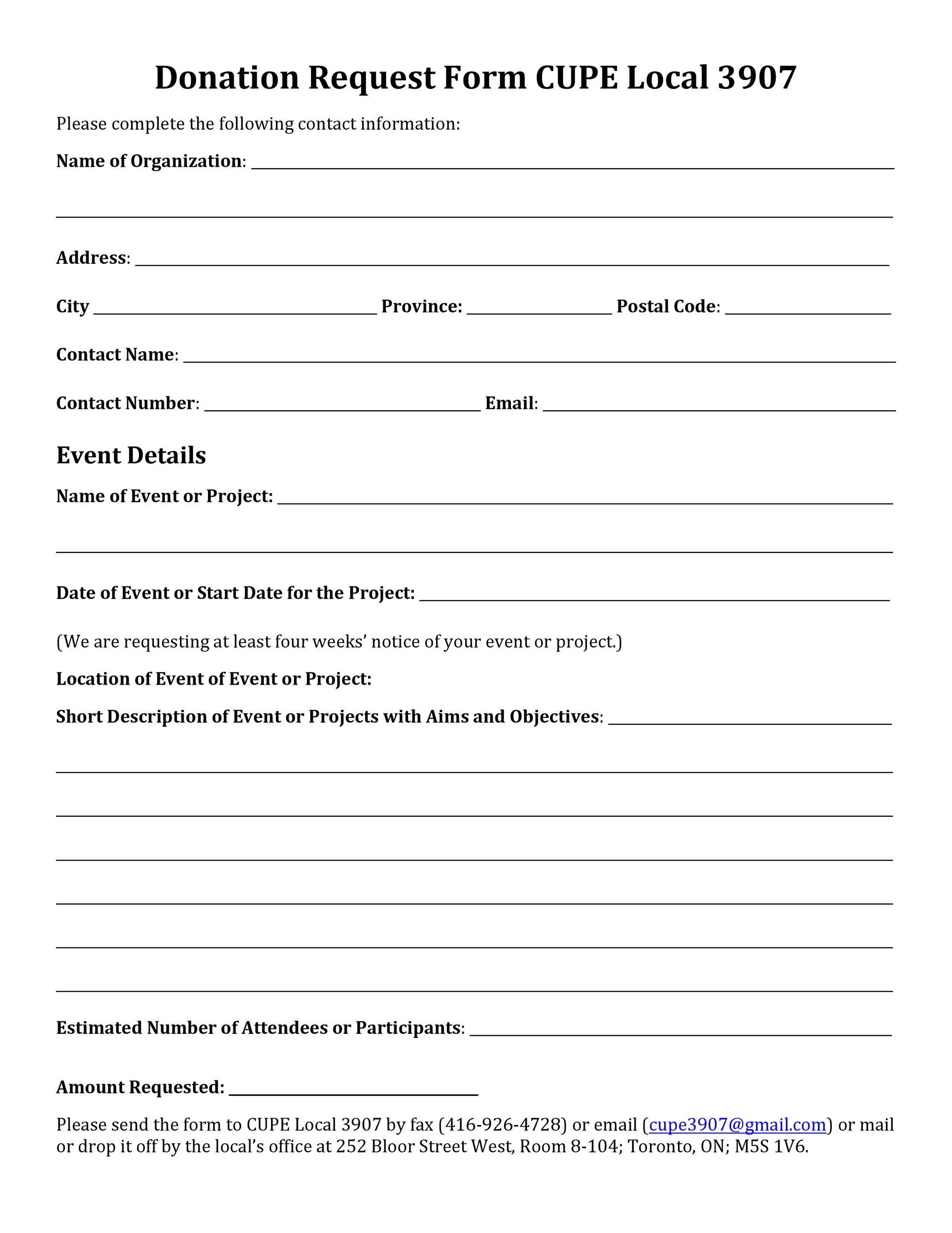 006 Imposing Printable Donation Form Template Highest Quality  Blank ReceiptFull