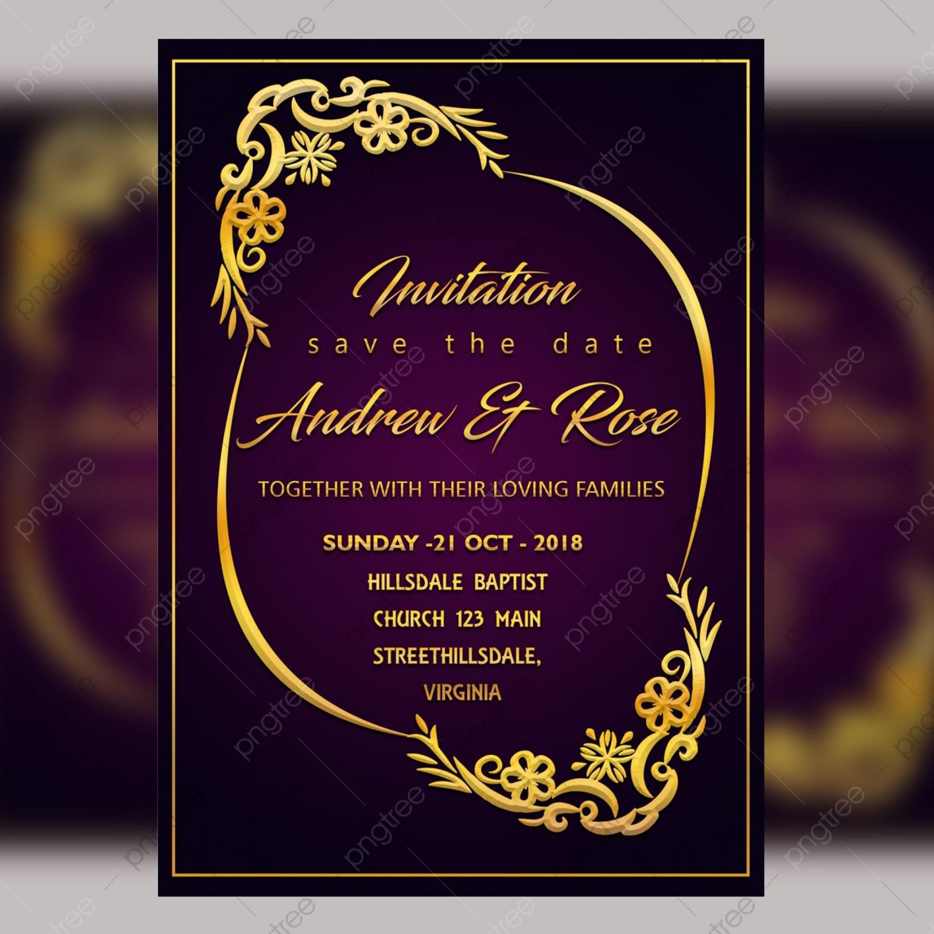 006 Imposing Sample Wedding Invitation Card Template Idea  Templates Free Design Response Wording1920