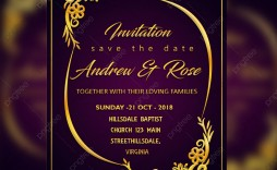 006 Imposing Sample Wedding Invitation Card Template Idea  Templates Free Design Response Wording