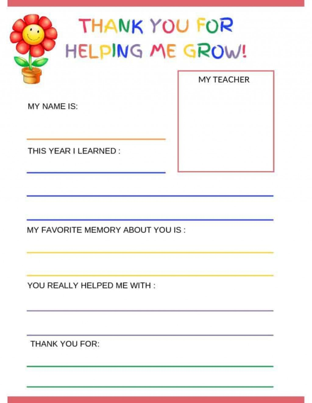 006 Imposing Thank You Note Template For Kid High Resolution  Kids Child Pdf LetterLarge