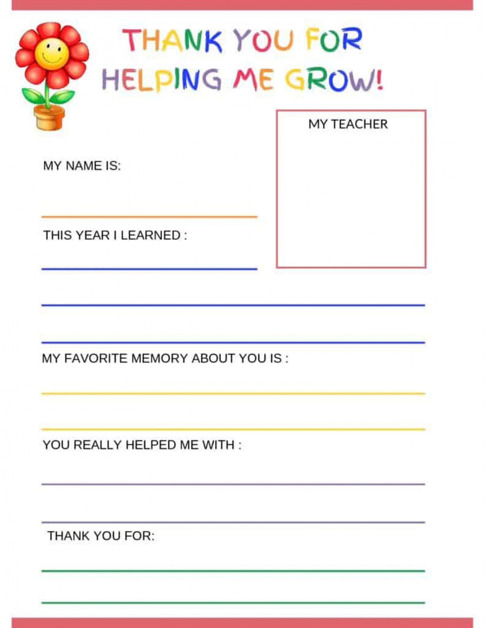 006 Imposing Thank You Note Template For Kid High Resolution  Kids Child Pdf Letter1920