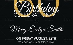 006 Impressive 60th Birthday Invitation Template Example  Card Free Download