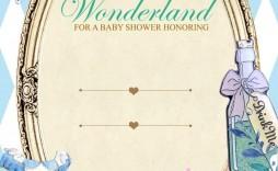 006 Impressive Alice In Wonderland Invitation Template Download Example  Free