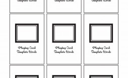 006 Impressive Blank Playing Card Template Word Sample