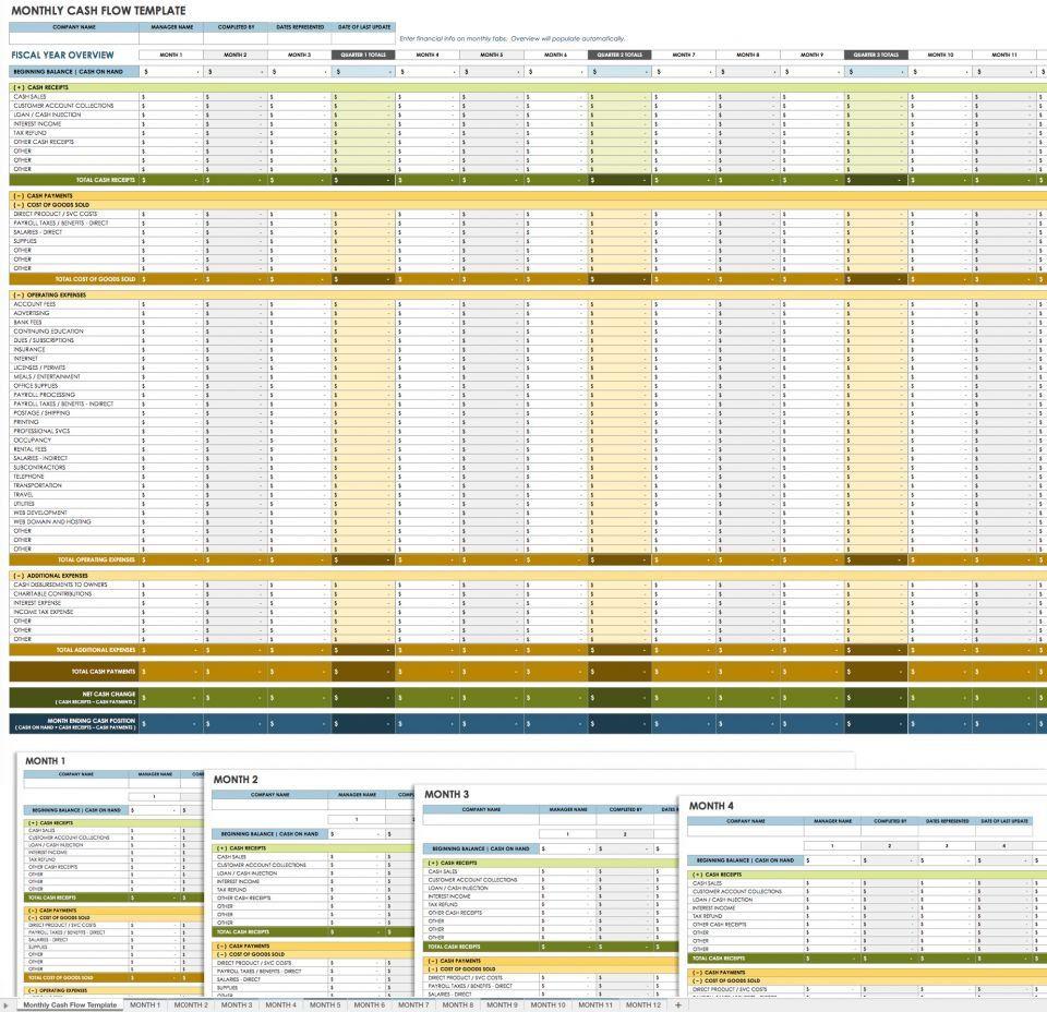 006 Impressive Cash Flow Template Excel Concept  2007 DownloadFull