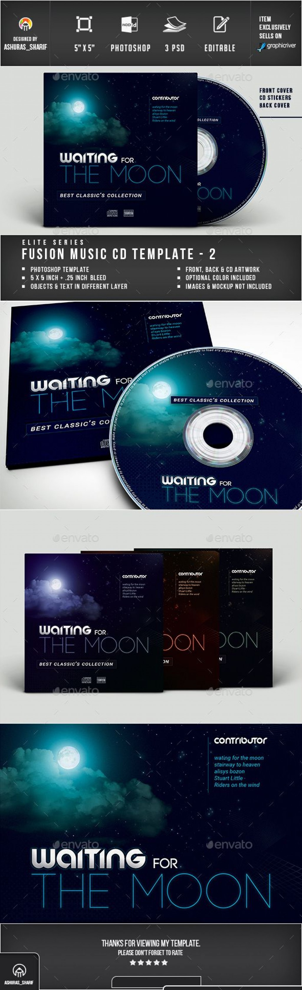 006 Impressive Cd Cover Design Template Photoshop Example  Label Psd FreeLarge