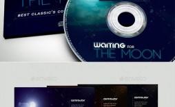 006 Impressive Cd Cover Design Template Photoshop Example  Psd Free Download Memorex Label